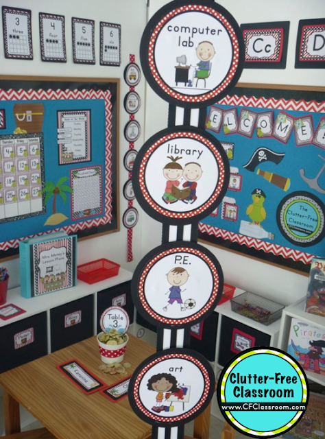 Classroom Decoration Printables ~ Pirate themed classroom ideas printable