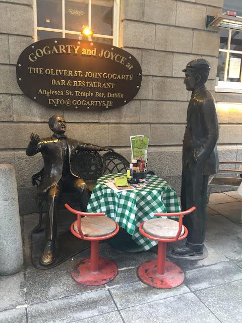 Dublin city break - The Gogarty and Joyce statues