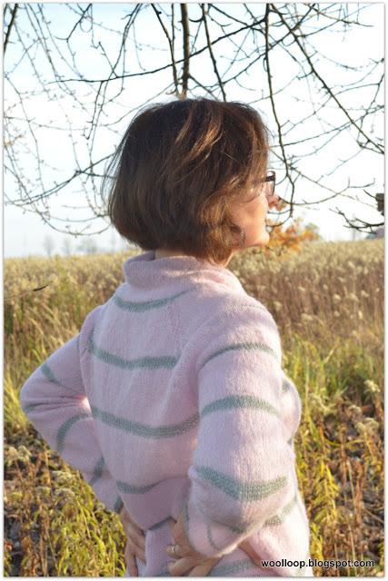 Sweter z włóczki alpakowej i jedwabnej