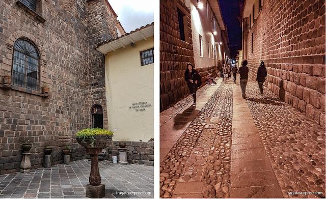 Cusco, Peru: Convento de Santa Catalina e paredes incas