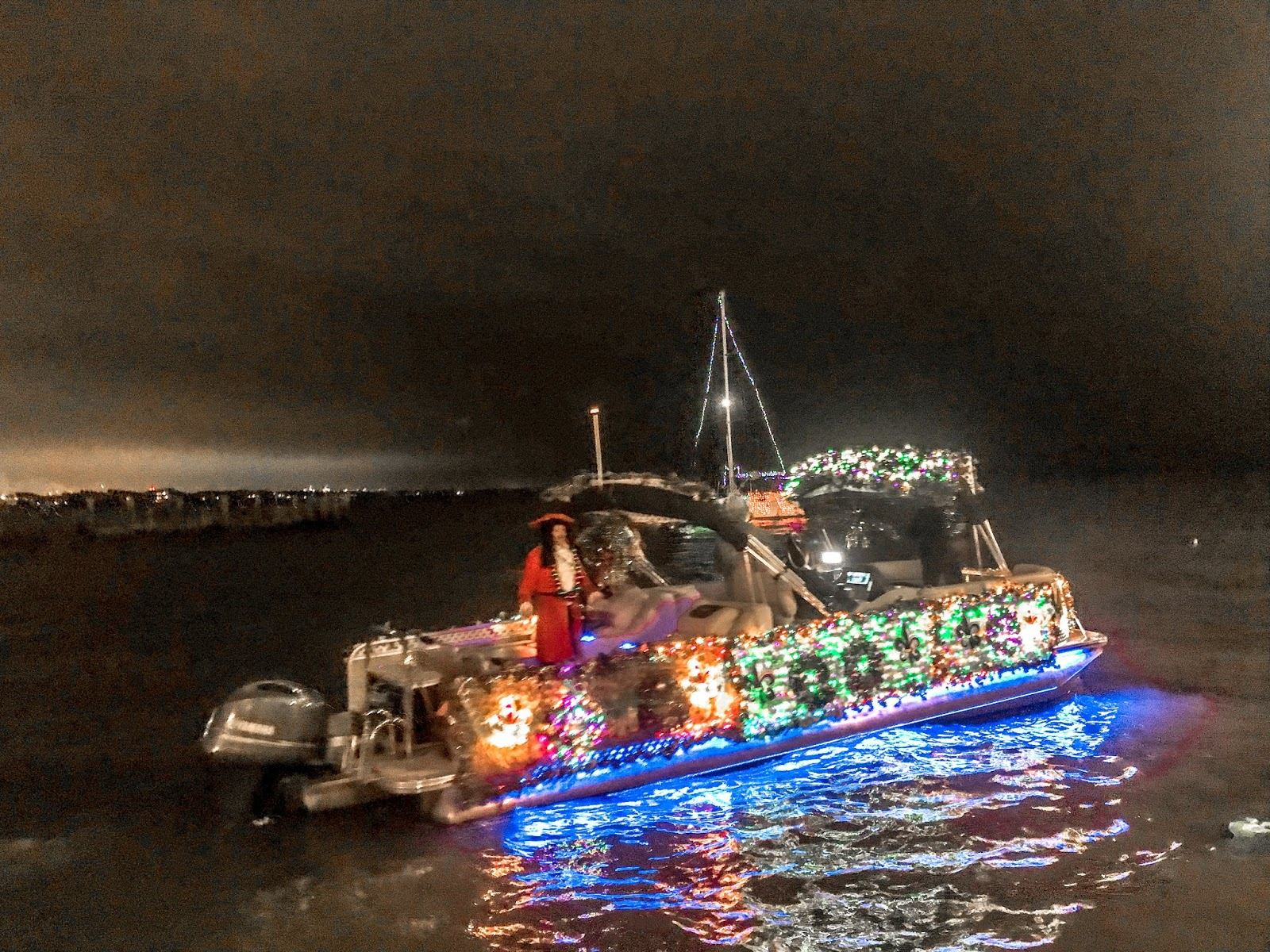 Decked out boat in Kemah