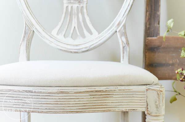 Champlain White Fusion Paint Vintage Chair {www.andersonandgrant.com}