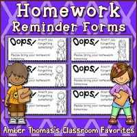 http://www.teacherspayteachers.com/Product/Homework-reminder-forms-53103