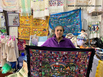 Bordados Artesanales Mexicanos elaborados por Bertha Servin Barriga de la Cooperativa Vasco de Quiroga