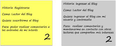 Figura 3: Historias dependientes por orden de funciones