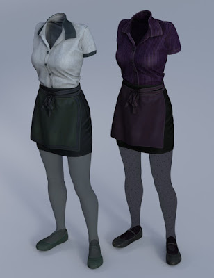 Restaurant Waitress Uniform for Genesis 3 Female(s)