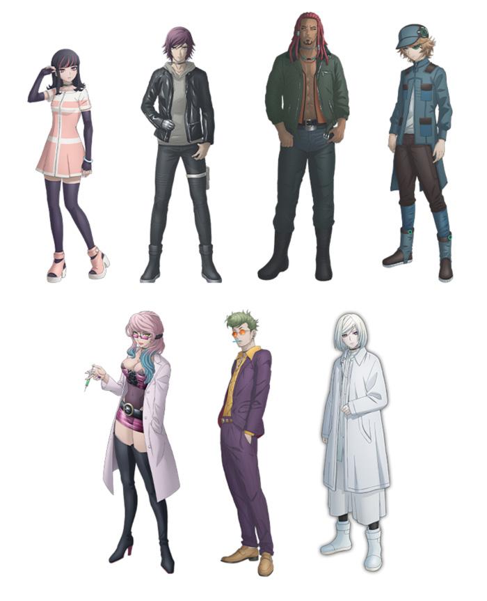 Akudama Drive anime - personajes