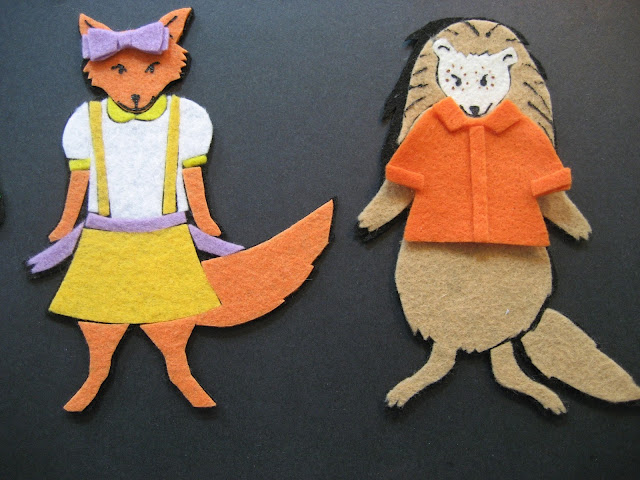 Flannel Board Fun Fox Porcupine Clothes