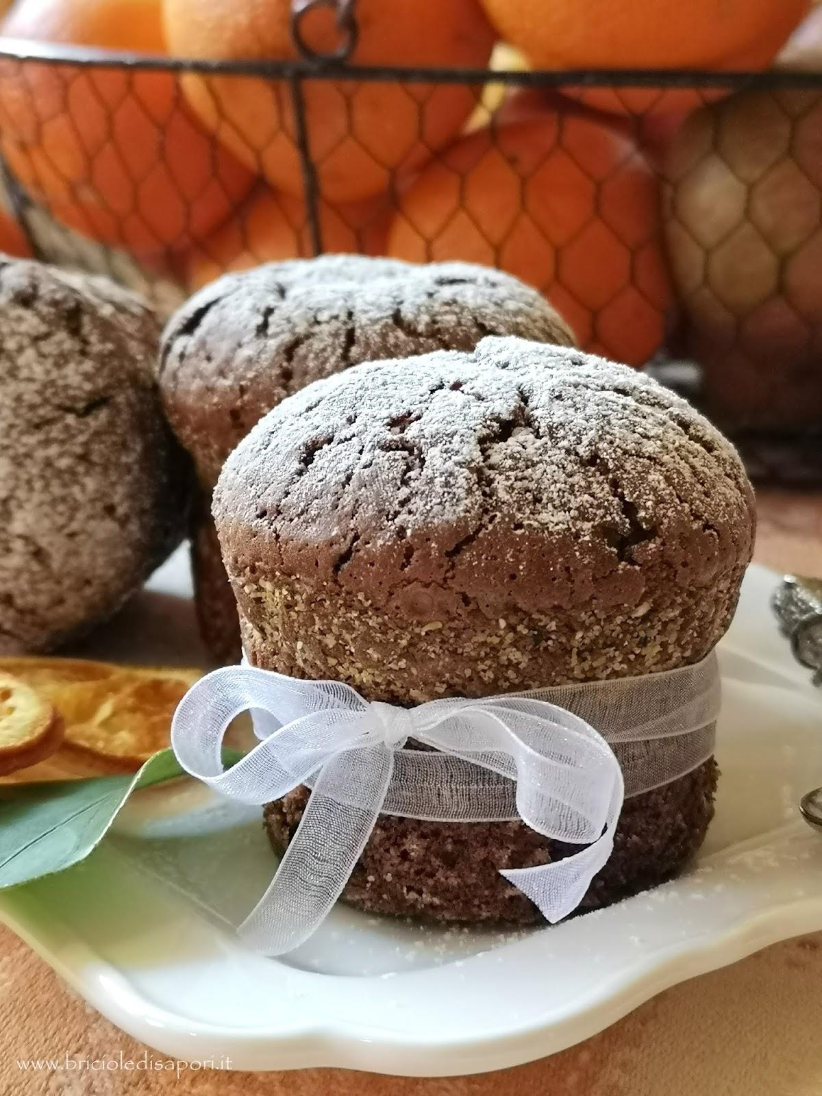 muffin con cioccolato all'arancia