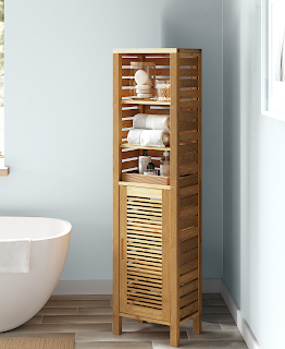 bamboo bathroom cabinet