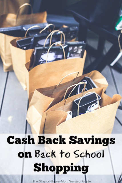 Cash Back Savings on Back to School Shopping