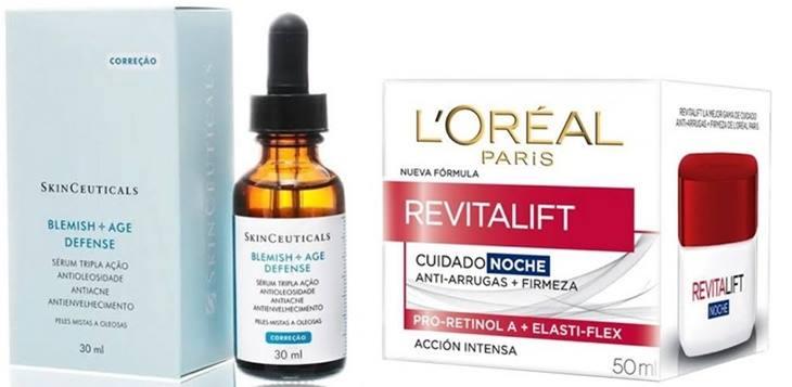 Blemish Age Defense Skinceuticals e Revitalift Loreal