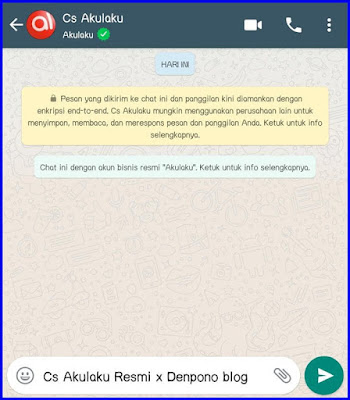 CS Akulaku Whatsapp