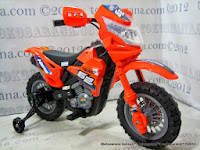 Motor Mainan Aki DoesToys DT413 Hero Force 62 Motocross Orange