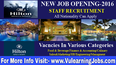 Hilton hotels & resorts Career And Jobs 2019 in Worldwide