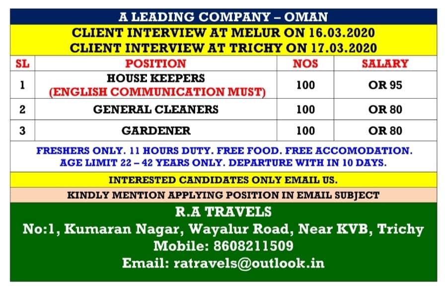 Gulf Job Vacancies 15 3 2020 Latest Jobs