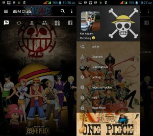 BBM MOD Tema One Piece v3.3.0.16 APK Versi Terbaru