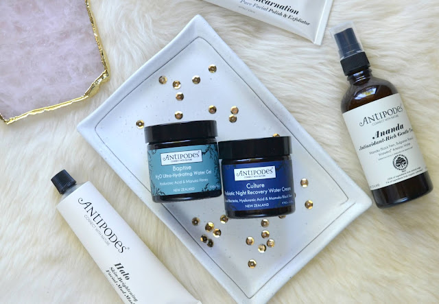 Antipodes Baptise H20 Ultra Hydrating Water Gel and Culture Probiotic Night Recovery Water Cream