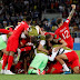 England win first ever World Cup shootout to reach quarters.... Beat Colombia on penalties
