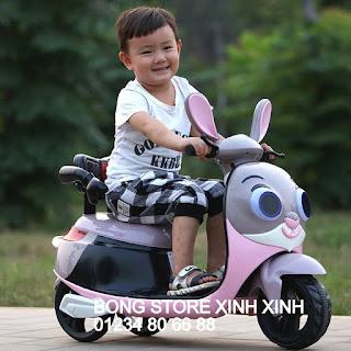 xe máy điện hình thỏ cho bé tại nha trang