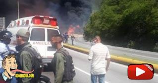 Un fallecido dejó la explosión de una gandola de gasoil en la Caracas - La Guaira