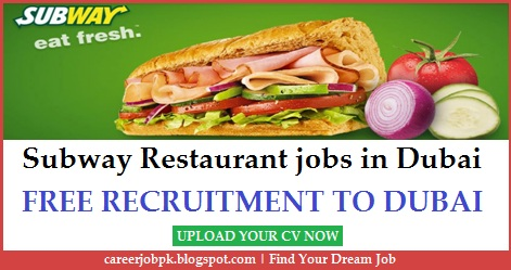 Subway Restaurant jobs in Dubai