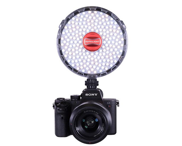 Rotolight Neo II LED Light and flash is lightweight and lasts for ages