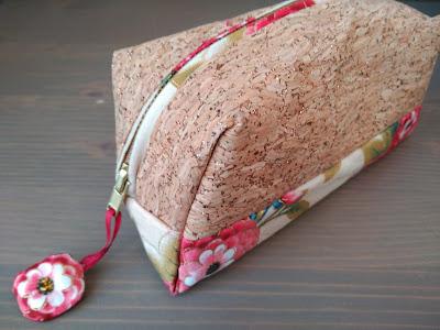 neceser, necessaire, boxy pouch, costura, couture, sewing, corcho, cork