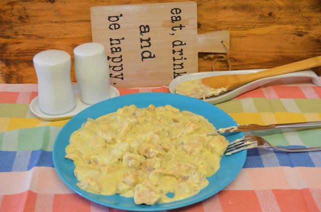 Las delicias de Mayte, receta de pollo, pollo con roquefort, pollo con champiñones, pollo con champiñones y roquefort, pollo receta,