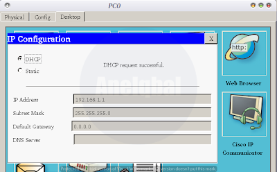cara setting dhcp server di cisco packet tracer