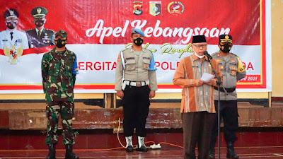 Bupati Sukiman Berharap Sinergitas TNI, Polri dan Pemkab Bisa Cegah Peningkatan Covid-19 di Lotim