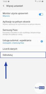 Samsung Mój Sejf Jak odinstalować?