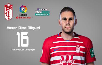 PES 2021 Faces Víctor Díaz Miguel by CongNgo