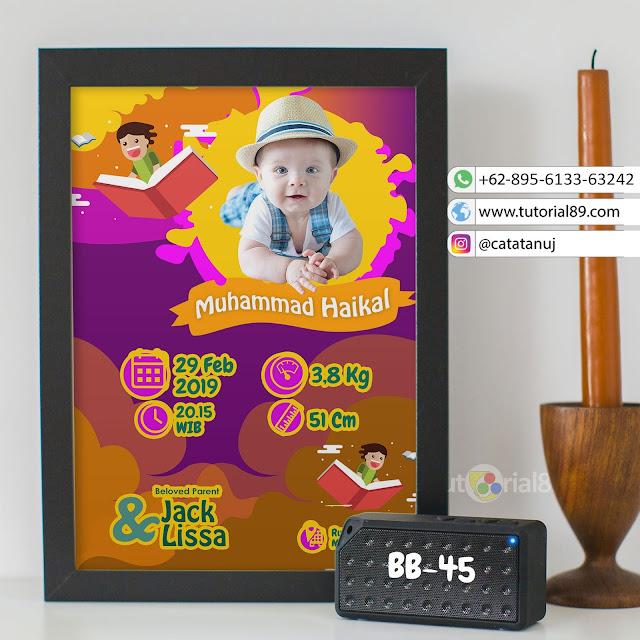 Biodata Bayi Costume Unik Kode BB45 | Ungun coklat