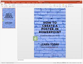 Cara Membuat Poster di PowerPoint