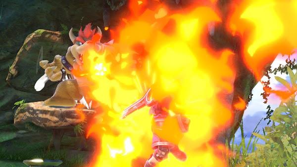 Super Smash Bros. Ultimate Gaur Plain Bowser Fire Breath on Shulk