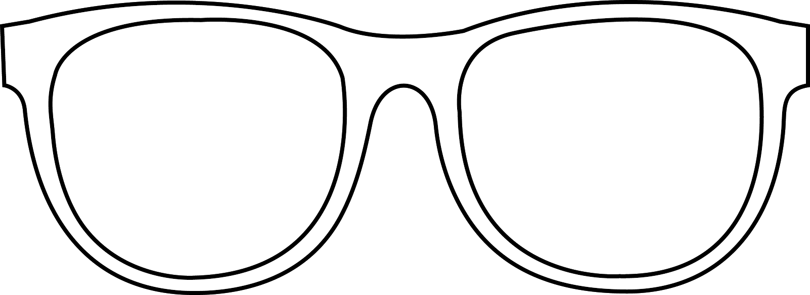 Free coloring pages of sunglasses template for Sunglasses coloring page