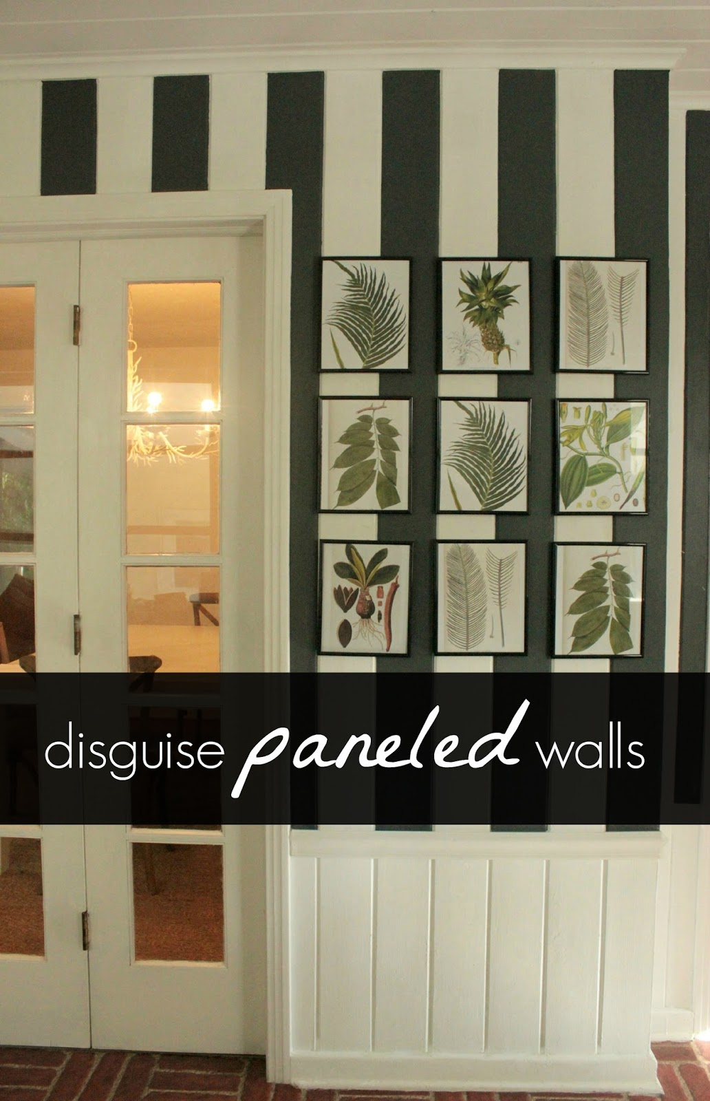 Painted Paneled Room: Disguise Paneled Walls