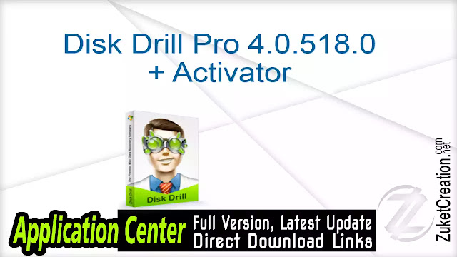 Disk Drill Pro 4.0.518.0 + Activator