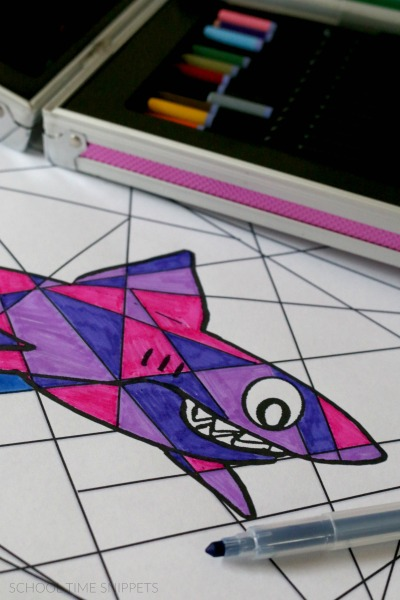 shark coloring printable