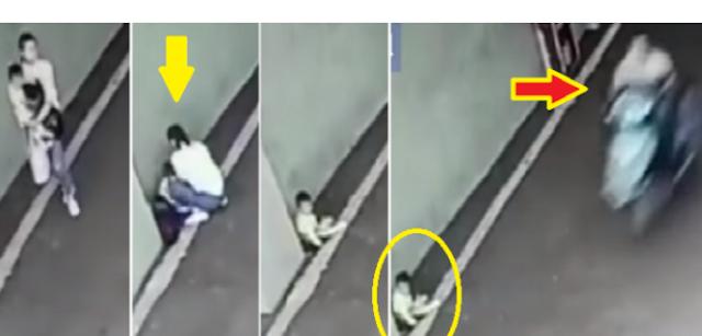 مشهد حقيقي مؤلم.. أم تتخلى عن طفلها بموقف سيارات وهذا ما حصل له