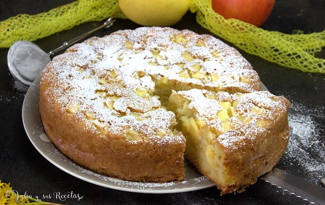 Bizcocho de manzana francés. Julia y sus recetas