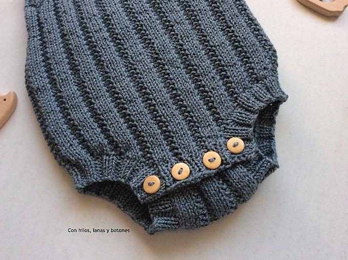 Con hilos, lanas y botones: Pelele Enkel (Becharmed Knitwear)