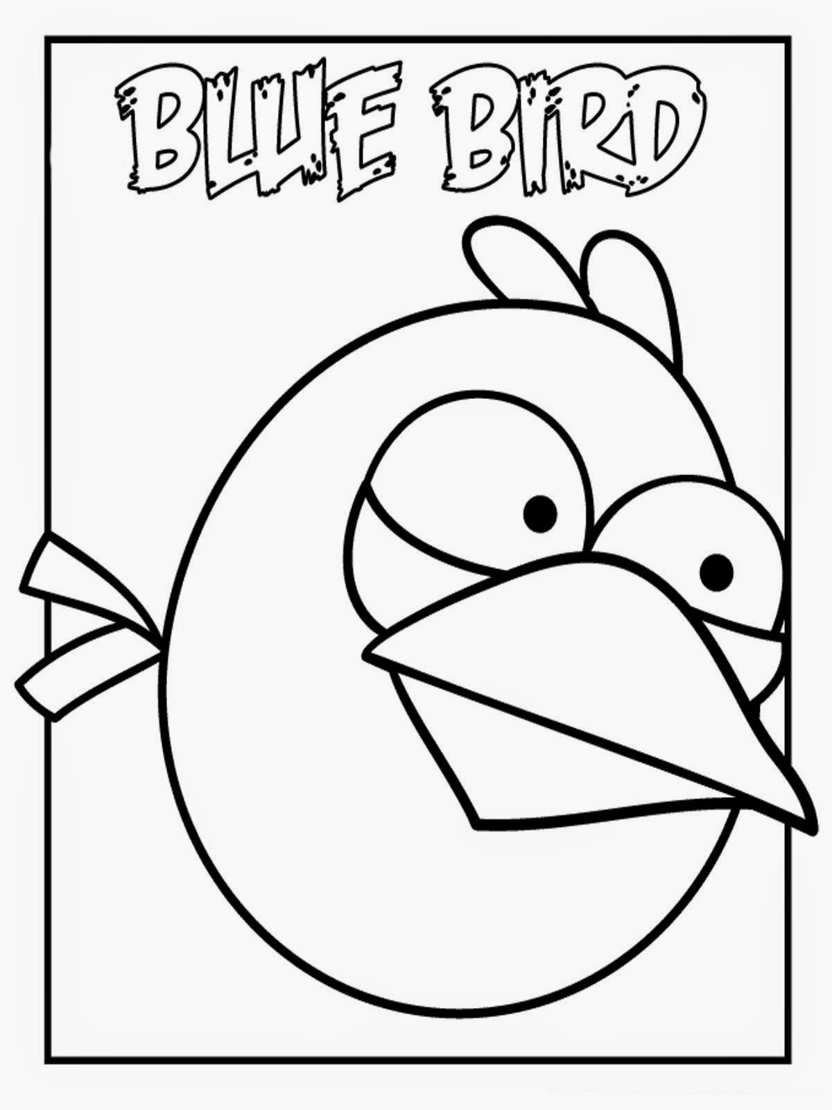 angry bird Blue Bird - HD Coloring Pages for Kids