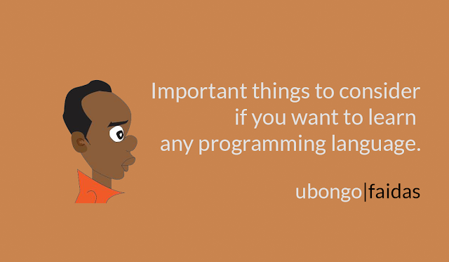 Important things to consider if you want to learn any programming language.