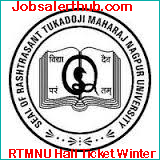 RTMNU Hall Ticket Winter
