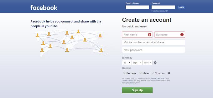 Facebook Par Account Kaise Banaye [Step By Step]