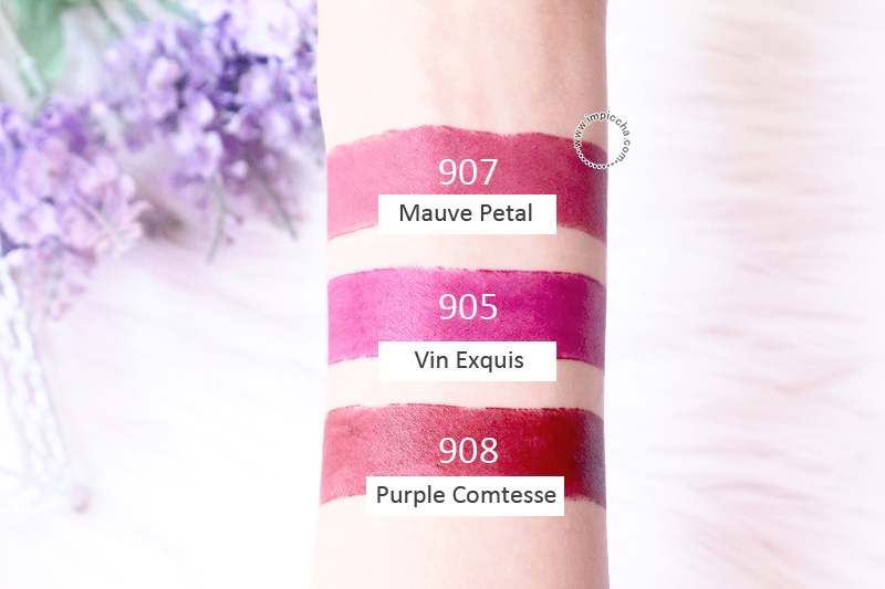 Swatch Loreal Paris Rouge Magique's Lipstick - Purple and Plum