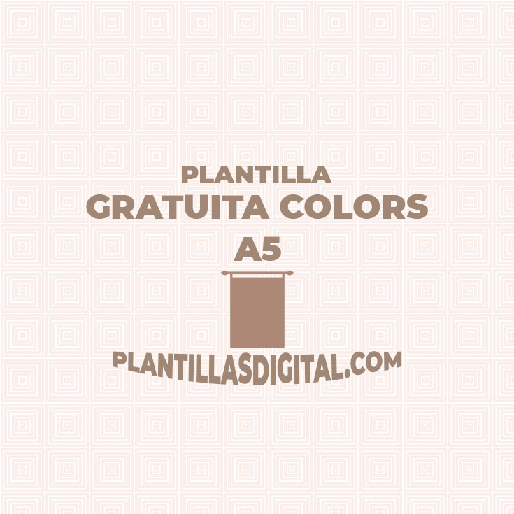 post plantilla gratuita colors a5