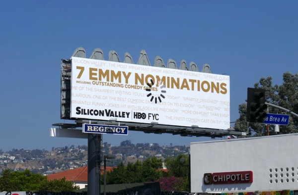 Silicon Valley season 5 Emmy nominee billboard